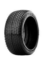 James Racing Wasper 1/8 Buggy Tire Mounted Glued Yellow Dish Rim Wheel Soft