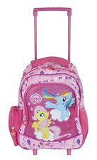 MY LITTLE PONY GIRLS KIDS WHEELED BACKPACK TROLLEY TRAVEL BAG LUGGAGE PINK NEW
