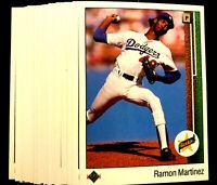 1989 Upper Deck RAMON MARTINEZ ~20 CARD LOT ~ ROOKIE CARDS