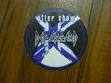 Def Leppard After Show X Tour 2002 2003 Backstage Concert Pass Stain