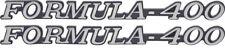 "1972 - 1975 FIREBIRD FORMULA 400 FENDER EMBLEM SET ""FORMULA 400"""