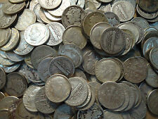Ten Little Survival 90% Vf-Mercury/ Xf/Au Roosevelt Silver Dimes
