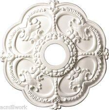 Ceiling Medallion Scallop 18 inch Primed White D528 Designer Edge Millwork round