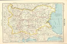 1952 MAP ~ BULGARIA ~ PLOVDIV PLANINA STALIN