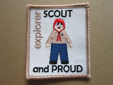 Explorer Scout And Proud Cloth Patch Badge Boy Scouts Scouting L3K D