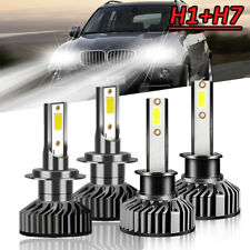 4X H1+H7 Combo LED Headlight Bulbs Hi/Lo Beam Fog Light 6000K 200W 8000LM Lamp