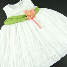 Baby Girl White Easter Dress 9 Months Sleeveless Crinkle Fabric Petticoat Party
