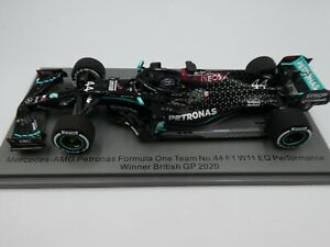 Spark 1:43 Lewis Hamilton Mercedes W11 British GP Silverstone F1 2020 S6477 NEW