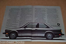 1983 BMW 318i 2-page advertisement, big photo of BMW 318i