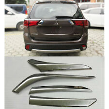 Chrome Rear Tail Light Lamp Decor Cover Trim For Mitsubishi Outlander 2016-2018