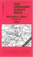 OLD ORDNANCE SURVEY MAP WINCANTON MERE BRUTON CHICKLADE GILLINGHAM 1897