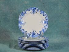 Shelley Dainty Blue BREAD and BUTTER DESSERT PLATE White Blue Bone China