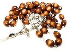 Therese Child Jesus Lisieux earth from coffin brown color relic rosary HIV AIDS