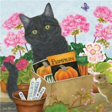 NEW Black Cat & Geraniums Jigsaw Puzzle Square 1000 Pieces Brand New & Sealed