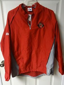 "Majestic High School ""Knights"" Premium Sewn Logos Pullover Warm Up Jacket Men XL"