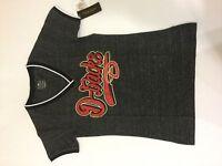 New Era Women's Arizona Diamondbacks Rhinestone V-Neck SS T-Shirt ONYX MEDIUM