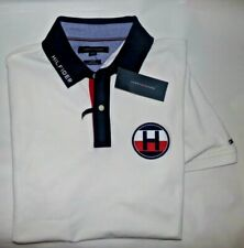 NWT MENS Tommy Hilfiger S/S Polo Shirt~Slim Fit~White~MED