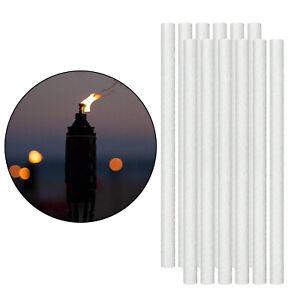 12X Long Life Fiberglass Replacement Wicks for DIY Tiki Torch, Oil Lamp, Candle