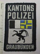GRAUBUNDEN SWITZERLAND KANTONS POLIZEI POLICE PATCH Vintage Original SWISS