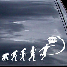 Disc Golf Vinyl Sticker - Evolution Of Shank - Car Vinyl Sticker