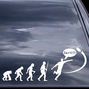 Disc Golf Vinyl Sticker - Evolution Of Shank - Car Vinyl Sticker
