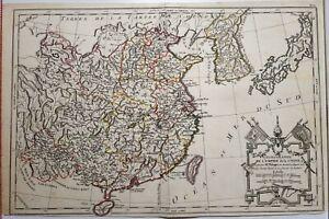 c1770 MAP CHINA CHOROGRAPHIE DE L'EMPIRE DE LA CHINE PHILIPPE DE PRETOT
