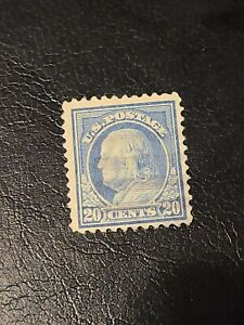 1917-1919 US Stamps Sc# 515 20c Benjamin Franklin Used Beautiful Condition-#1581