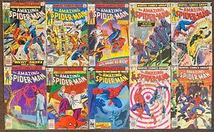 10 The Amazing Spider-Man #182,183,184,191,193,196,197,200,201,201 Marvel Comics