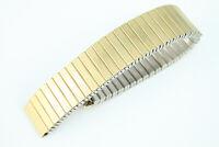 MAGEX 16mm Zugband Uhrenarmband Flexband Edelstahl Goldfarben Top Qualität
