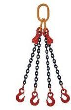 1m Élingue chaîne 4 brins  grade 80 Raccourcisseur crochet à linguet