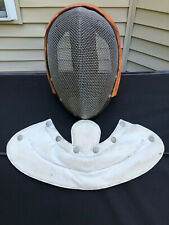 Vintage Wire Fencing Mask Helmet with Neck Guard