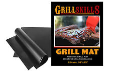 Grill Skills -  Set of 2 Nonstick BBQ Grilling Mats - Cooking  Heavy Duty Mats