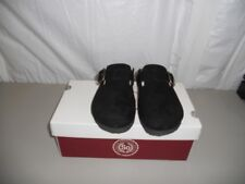 SONOMA Slip On Sandal Shoes Suede Solid Black With Buckle Strap Womens Size 5M