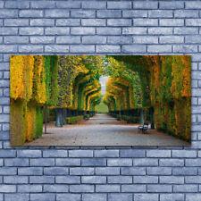 Impression sur verre acrylique Image Tableau 140x70 Nature Parc Automne Jardin