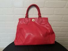 MARC by MARC JACOBS OZZIE LUCY SATCHEL OSTRICH PRINT TOMATO RED