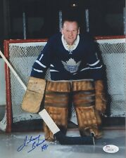 JOHNNY BOWER HAND SIGNED 8x10 COLOR PHOTO   HOF TORONTO MAPLE LEAFS GOALIE   JSA