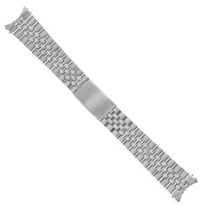 STAINLESS STEEL DIAMOND CENTER JUBILEE WATCH BAND FOR ROLEX 36MM DATEJUST 2.20CT