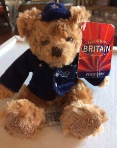 "Russ Bear plush Glorious Britain Policeman 7"" with tag"