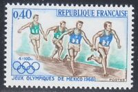 France 1968 MNH Mi 1638 Sc 1223 Relay Race.Olympic Games, Mexico.Runners **