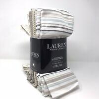 Lauren Ralph Lauren 8 Pack Kitchen Towels 17 In x 28 In 100% Cotton Tan/White