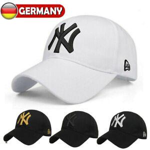 Adjustable Basecap NY Hut Herren Damen Baseball Cap Mütze Sport Golf Hat Caps DE