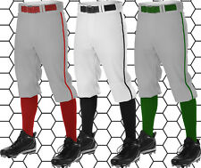 Alleson Athletic Adult Mens Knicker Baseball Pants With Piping Braid 605PKN
