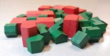 VTG LOT OF MONOPOLY PAINTED WOOD HOUSES & HOTELS STANDARD GAME Replacement Part