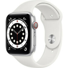 Apple Watch Series 6 44mm Silver Aluminum Case Silver Sport Band