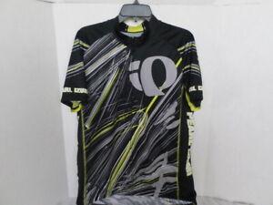 PEARL IZUMI Men's Full Zip Cycle Jersey  Size XXL Black White Yellow EUC