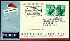 AUSTRIA, FIRST FLY COVER, WIEN - BRÜSSEL 1, YEAR 1959, AUSTRIAN AIRLINES