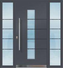 Flügelüberdeckend ALUMINIUM Alu Haustür Haustüren FD920 4b 01 Mit 2  Seitenteilen