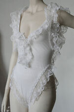 Capricci Ibiza Donna Body Biancheria Intima Bianco True Vintage 90er WOMEN'S BODY WHITE