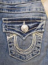 TRUE RELIGION Women's Medium Baja Joey Rainbow Jeans - Size 26 - NWT $262.00