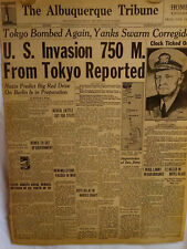 1945 Vintage Newspaper-Tokyo Bombed-Iwo Jima-Nazis-Admiral Nimitz-British-German